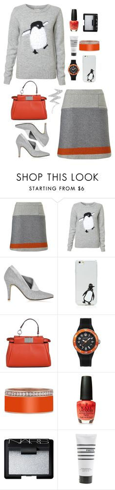"""""""Happy Penguin"""" by molly2222 ❤ liked on Polyvore featuring Finesse, Zoe Lee, OTM, Fendi, Philip Stein, OPI, NARS Cosmetics, Pirette, NYX and Sweater"""