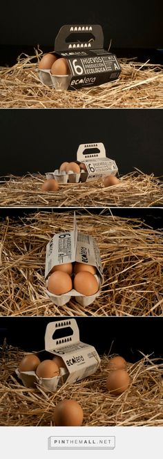 Ecotera Eco Eggs packaging designed by Javier Garduño Estudio de Diseño - http://www.packagingoftheworld.com/2015/11/ecotera-eco-eggs.html