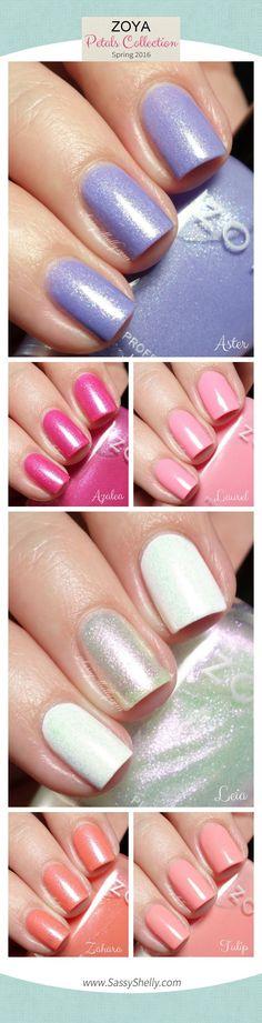 Zoya Spring 2016 Petals Collection swatches & review  |  Sassy Shelly    #nails #nailpolish