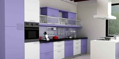 Learn about different styles, shapes and layouts of Kitchen Design, kitchen arrangement and visualize the way you want your kitchen to be. At Ludhiana Kitchen we design your kitchen based on your requirements, available kitchen dimensions. Buy Furniture Online, Home Furniture, Furniture Design, Kitchen Furniture, Furniture Ideas, Bella Kitchen, Buy Kitchen, Purple Kitchen Walls, Kitchen Arrangement