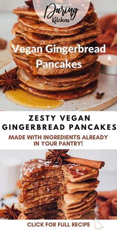 These vegan gingerbread pancakes have seasonal spice in every bite. They are vegan and free of highly processed sugars. They also are super quick to make! Gingerbread Pancakes, Vegan Gingerbread, New Recipes, Vegan Recipes, Processed Sugar, Cooking For Two, Breakfast Casserole, Healthy Breakfast Recipes, Sweet Tooth