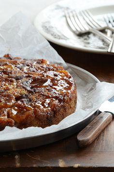 Upside-Down Brown Butter-Banana Coffee Cake. Recipe from the @RecipeGirl {recipegirl.com} {recipegirl.com} {recipegirl.com} cookbook!