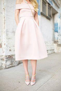 Modest Prom Dress,Pink Prom Dress,Midi Prom Dress,Fashion Prom Dress,Sexy Party Dress, New Style Evening Dress