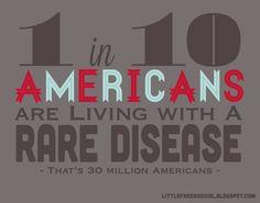 typography rare disease american statistics