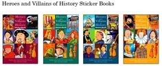 Heroes and Villains of History Sticker Books