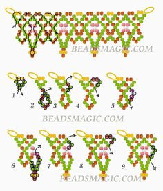 Free pattern for necklace Masai