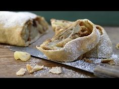 Whole-Grain Apple Strudel with Cranberries Apple Recipes, Sweet Recipes, Fun Desserts, Dessert Recipes, Strudel Recipes, German Baking, Apple Strudel, Cranberry Muffins, Convenience Food