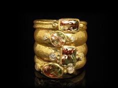 gurhan jewelry istanbul | Zultanite ® & Diamond 18K Yellow Gold Rings (Mixed Light)