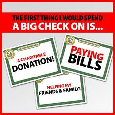 PCH on Twitter......The Prize Patrol wants to know how you would spend a big check!
