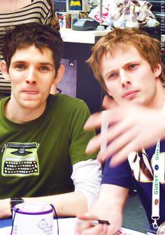 Colin Morgan and Bradley James