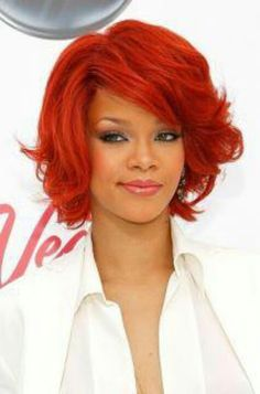 Rhianna Red Hair Rihanna. RiRi #Rihanna, #Riri, #pinsland, https://apps.facebook.com/yangutu