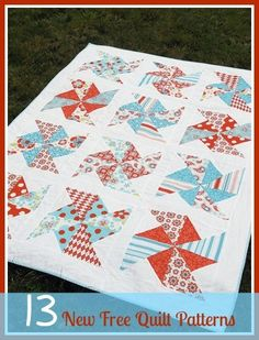 13 New Free Quilt Patterns + 8 Easy Quilt Patterns   Looking for some gorgeous quilt patterns? Be sure to check out our updated list of new quilt patterns!