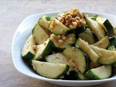 Zucchini with Walnuts (warm dish)