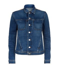 L'Agence Celine Metallic Back Denim Jacket | Harrods.com