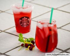 Homemade Starbucks Passion Iced Tea/ Lemonade! So delicious! Great recipe blog, too!