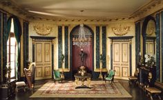 French anteroom of the Empire period, c. 1810, the Thorne Miniature Rooms