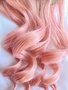 ROSE GOLD Pastel Blonde Pink 100% Human Hair by TheUnicornMane