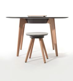 Wood is the key characteristic design element of TIMBA. The legs of the TIMBA table are made from solid oak, either in a natural finish or stai. Solid Oak, Office Furniture, Design Elements, Flooring, Stability, Graphite, Wood, Appreciation, Table