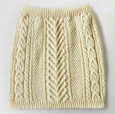 Skirting around free knit skirt pattern Patons DK superwash