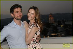 torrance coombs alyssa campanella couple up at summer dinner party 01
