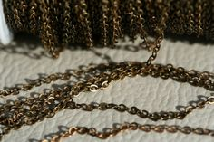 2 mt  66 feet 15 x 2 mm Antique Yellow Tone Brass by Sevenhill