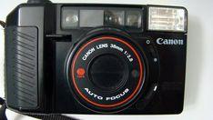 Canon Sure Shot 35mm Camera + Case Auto Focus 38mm Lens Self Timer Flash #Canon