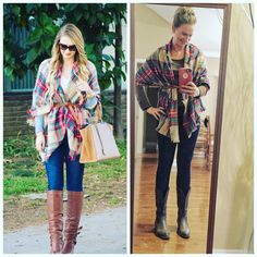 "Andrea Pelzel on Instagram: ""Forgot to post my #ootd yesterday  / here is my #pinneditthriftedit version // I FINALLY decided to give the whole belted #blanketscarf a try // I'll be doing this a lot more this fall! Details ::  Scarf : #target - brown #bcbg long sleeve top - #goodwill $3.99 - Skinny brown belt - #goodwill $.99 - Jeggins #hue from #goodwill $4.99 - cowboy boots #stevemadden from #belk #blackfridaysale $19.99 -- Happy Sunday Y'all  #wiw #lookforless #keepinitthrifty"