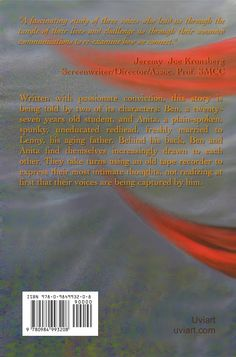 The back cover of Apart From Love, with a blurb by the screen writer, director and producer Jeremy Joe Kronsberg