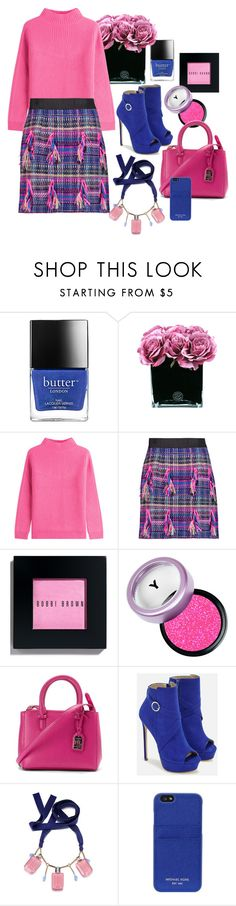 """""""Pink blue with black"""" by lulala002 ❤ liked on Polyvore featuring Butter London, Hervé Gambs, Diane Von Furstenberg, Milly, Bobbi Brown Cosmetics, Ralph Lauren, JustFab, MICHAEL Michael Kors, Fall and booties"""