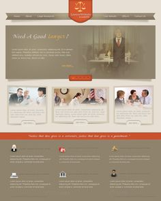 Law, Writers, Professionals web site design
