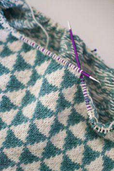Knitting triangles