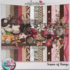 Season of Change digital scrapbooking kit from Dae Designs - Fall is here, and this kit will be perfect for those fall pictures. The papers, elements, and wordart are full of comfy and coziness and will get you into the fall spirit. This colorful kit will add that special touch to your layouts.