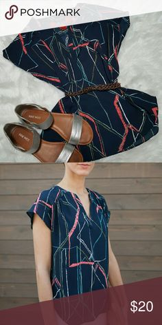 Banana Republic Tunic Navy/multi-colored. Dress up with sweater or blazer, or go casual with jeans! Banana Republic Tops Blouses