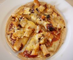 BBQ Chicken Tortilla Pizza