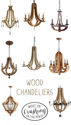 I'm sharing my favorite wood chandeliers on the blog today!
