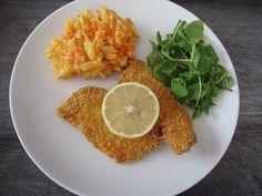 RECEPT: Krůtí medailonky v kukuřičném těstíčku s bramborovo-mrkvovou kaší Grains, Rice, Food, Essen, Meals, Seeds, Yemek, Laughter, Jim Rice