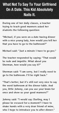 What Not To Say To Your Girlfriend On Date Night.  This Is Hilarious funny jokes story lol funny quote funny quotes funny sayings joke humor stories