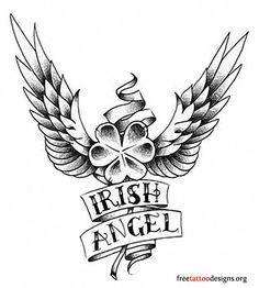 Irish shamrock tattoo design