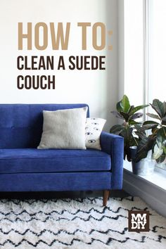 After determining what type of suede you are dealing with, it comes down to two important steps. Brush and vacuum the loose soil and treat the stains carefully. Heavier stains may require professional intervention. // Couch Cleaning // Suede Cleaning // Cleaning Hacks // Cleaning Tips // Cleaning Cleaning Suede, Couch Cleaning, Suede Couch, Clean Couch, How To Clean Suede, Cleaning Hacks, Love Seat, Sofa, Modern