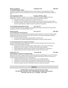 Resume of purchase manager