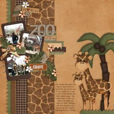 Great layout to use multiple small photos balanced with large chipboard elements.