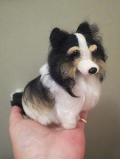 Ooak-needle-felted-artist-handmade-Sheltie-puppy-dog-wool-sculpture