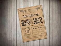 Chalkboard Style Wedding Invitation SET with by LaneLoveDesign {our chosen invitation design}
