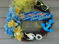 Swimming wreath. Mine turned out soooo cute