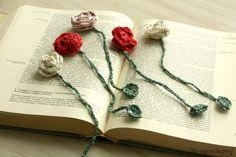 Na rogu pistacjowej: zakładka do książki na szydełku