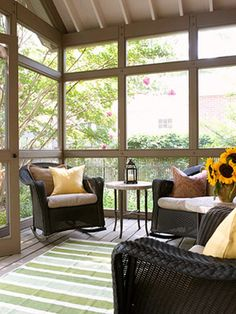 Enclosed porches and conservatories ideas