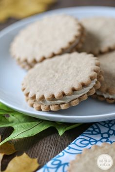 Maple Cream Sandwich Cookies. The Canadian in me would love to see these in a maple leave shape.