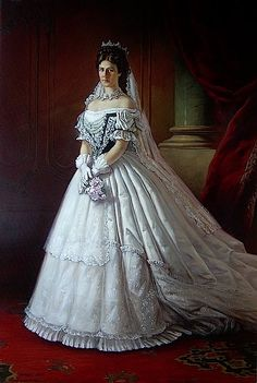 1867 Sisi wearing her Hungarian coronation dress
