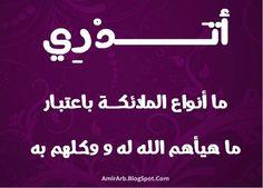 مدونة أمير العرب blog amir arab: أتدري ما هي أنواع الملائكة باعتبار ما هيأهم الله له و وكلهم به