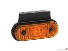 Lampa obrysowa LED z uchwytem kątowym i kablami 12V 24V